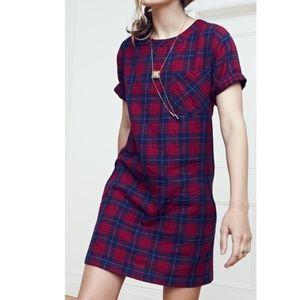 MADEWELL Edina plaid gingham dress